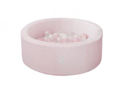 Caramella Baby Pink suchý bazén s guličkami ružový