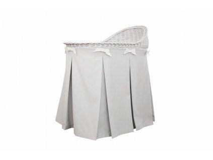 Caramella prútený košík na spanie šedý