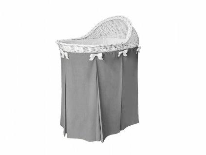 Caramella prútený košík na spanie tmavo šedý
