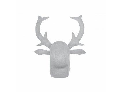 Caramella závesná dekorácia losia hlava šedá