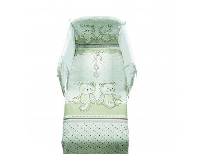 Italbaby Amici mantinel s posteľnou bielizňou béžový