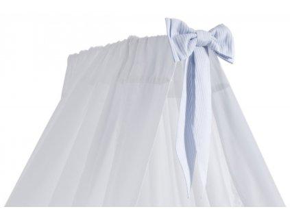 Caramella Baby Blue stojaci baldachýn s modrou mašľou