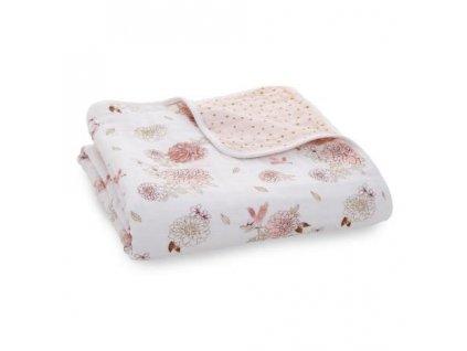 Aden & Anais bavlnená deka do postieľky Dahlias