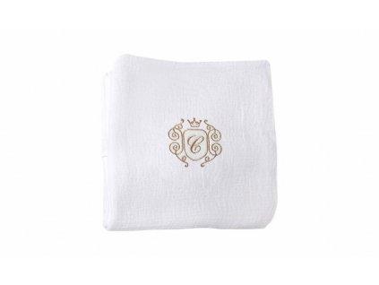Caramella Golden Chic plienka na zavinovanie biela