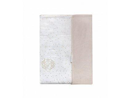Caramella Golden Sand detská deka biela
