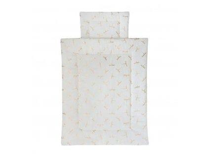 Caramella Ivory Mist novorodenecké obliečky s výplňou
