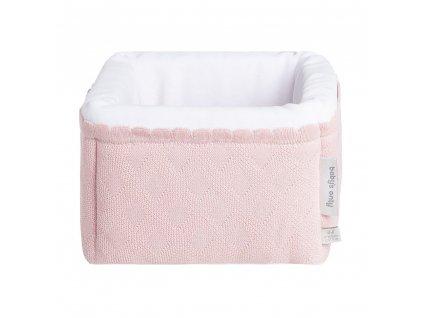 Baby´s only pletený odkladací košík Reef ružový