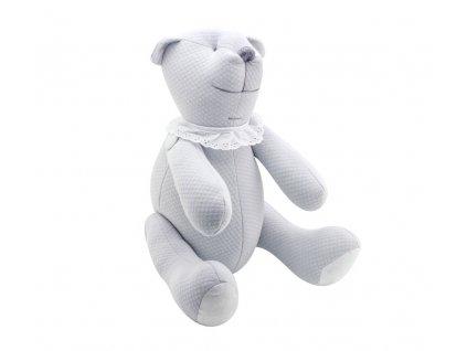 Caramella Pure Grey plyšový medvedík šedý