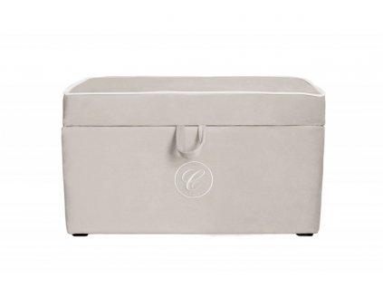 Caramella čalúnený úložný box na hračky béžový