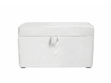 Caramella čalúnený úložný box na hračky slonová kosť