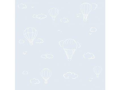 Caramella tapeta s teplovzdušným balónom modrá