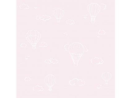 Caramella ružová tapeta s teplovzdušnými balónmi
