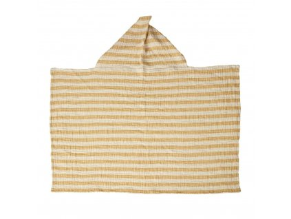 Quax mušelínová osuška s kapucňou Stripes šafránová