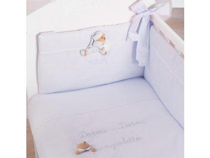 Nanán Puccio mini obliečky s mantinelom modré
