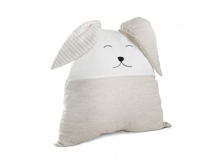 Nanán rozkošný béžový dekoratívny vankúš zajačik