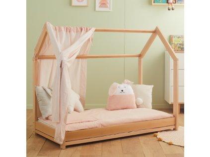 Nanán domčeková posteľ Montessori prírodná