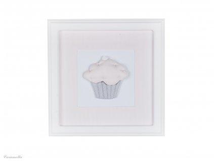 20399 caramella detsky obraz na stenu muffin 30x30cm ruzovy