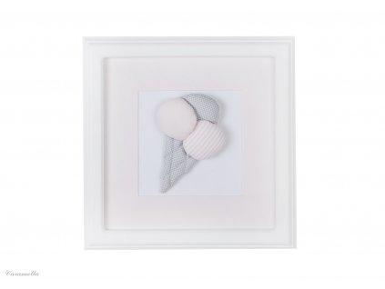 20396 caramella detsky obraz na stenu zmrzlina 30x30cm ruzovy