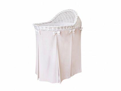 Caramella Baby pink prútený košík na spanie ružový