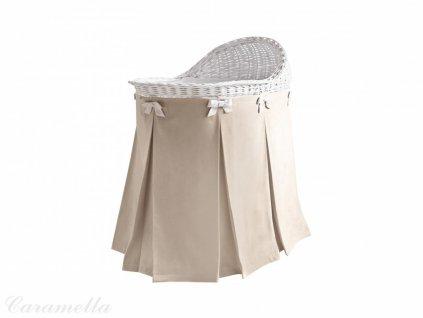 Caramella prútený košík na spanie béžový
