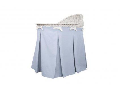 Caramella Baby Blue prútený košík na spanie modrý