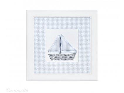 20414 caramella textilny detsky obraz azure lodicka 30x30cm modry