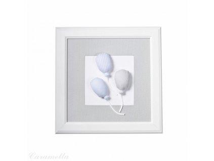 Caramella Baby Blue textilný detský obraz balóniky modré