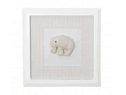 20462 caramella textilny detsky obraz golden sand slonik 30x30cm pieskovy