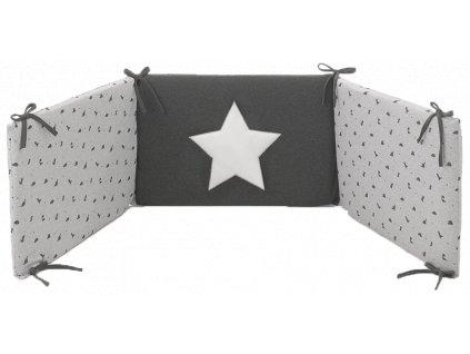 Italbaby Jurassic mantinel s posteľnou bielizňou šedý