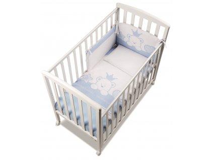 Italbaby Baby Re mantinel s posteľnou bielizňou modrý