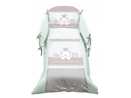 Italbaby Baby Re mantinel s posteľnou bielizňou šedý