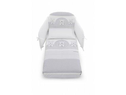 Italbaby Bubbles mantinel s posteľnou bielizňou biely