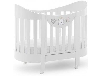 Italbaby oválna postieľka na kolieskach Baby Re