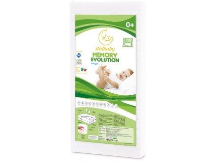 Italbaby detský matrac Memory Plus 60x120cm