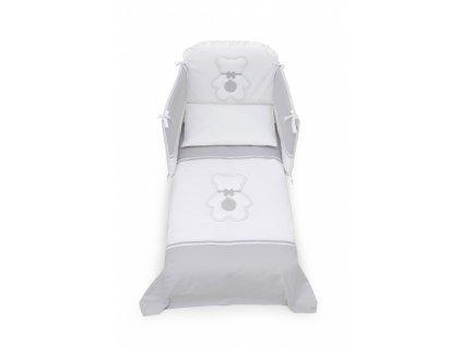 18071 italbaby fiocco mantinel s postelnou bieliznou sedo biely