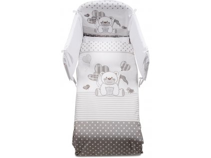 Italbaby KuKu mantinel s posteľnou bielizňou šedý