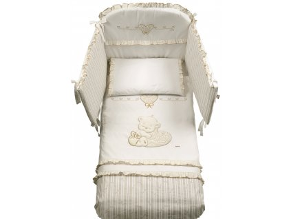 Italbaby Love mantinel s posteľnou bielizňou krémový