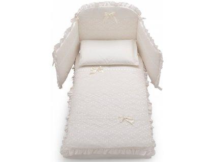 Italbaby Magnifique Lux mantinel s posteľnou bielizňou krémový