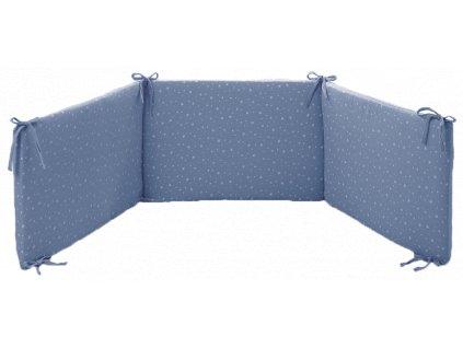 Italbaby mantinel s posteľnou bielizňou Muslin modrý