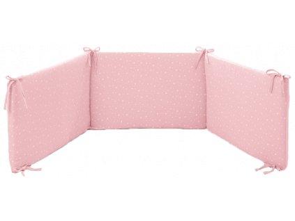 15680 italbaby mantinel s postelnou bieliznou muslin ruzovy