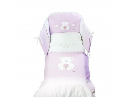Italbaby Peluche mantinel s posteľnou bielizňou ružový