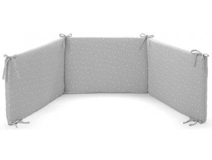 Italbaby mantinel s posteľnou bielizňou Muslin šedý