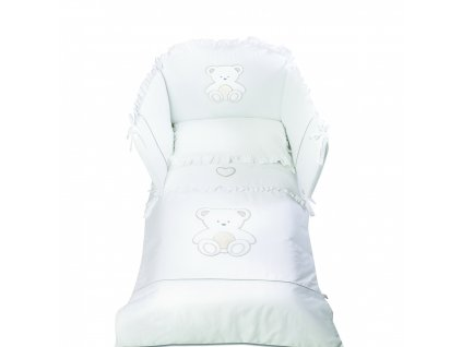 Italbaby Peluche mantinel s posteľnou bielizňou biely