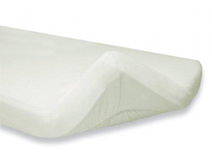 italbaby plachta na detsky matrac terry 55x110cm biela