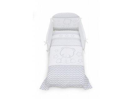 Italbaby Pop Star mantinel s posteľnou bielizňou šedý
