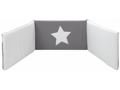 Italbaby Star mantinel s posteľnou bielizňou šedý