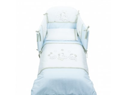 Italbaby Sweet Stars mantinel s posteľnou bielizňou modrý
