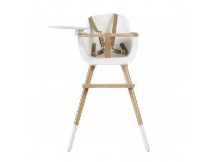18236 micuna drevena detska jedalenska stolicka ovo luxe one biela
