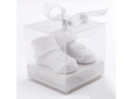 detské ponožky biele
