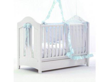 Nanán postieľka s posuvnou bočnicou Tato Baby modrá